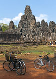 The Bayon (Prasat Bayon) temple at Angkor in Cambodia Stock Image