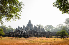 The Bayon. Prasat Bayon, part of Angkor Khmer temple complex, popular among tourists ancient lanmark and place of worship in Southeast Asia. Siem Reap, Cambodia Royalty Free Stock Photos