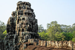 The Bayon. Prasat Bayon, part of Angkor Khmer temple complex, popular among tourists ancient lanmark and place of worship in Southeast Asia. Siem Reap, Cambodia Stock Photos