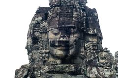 A Bayon`s face stock photography