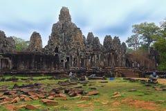 Bayon slott, Angkor Thom, Cambodja fotografering för bildbyråer