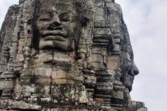 Bayon stawia czoło w Angkor Thom Siem Przeprowadza żniwa Obraz Royalty Free