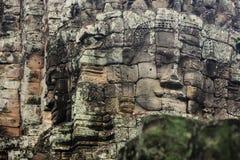 Bayon stellt in Angkor Thom Siem Reap gegenüber Lizenzfreie Stockfotografie