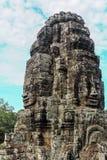 Bayon stellt in Angkor Thom Siem Reap gegenüber Lizenzfreie Stockbilder