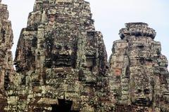 Bayon stellt in Angkor Thom Siem Reap gegenüber Stockfotografie