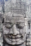 Bayon stellt in Angkor Thom Siem Reap gegenüber Stockfotos