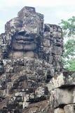 Bayon stellt in Angkor Thom Siem Reap gegenüber Stockbild
