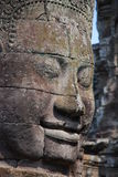 Bayon stone face. Angkor Wat, stone face on Bayon temple in Siem Reap, Cambodia Stock Image
