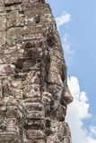 Bayon stone face in Angkor Wat, Siem Reap, Cambodia. Royalty Free Stock Image