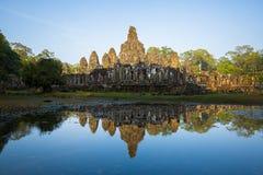 Bayon tempel Royaltyfria Bilder