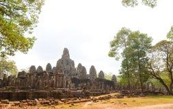 Bayon tempel Royaltyfri Fotografi
