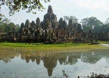 Bayon tempel, Angkor område, Siem Reap, Cambodja Royaltyfri Foto