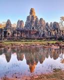 Bayon tempel, Angkor, Siem Reap, Cambodja Royaltyfria Foton