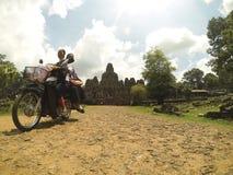 Bayon tempel Cambodja Arkivbilder