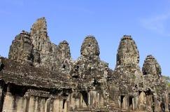 Bayon tempel, Cambodja Arkivbild