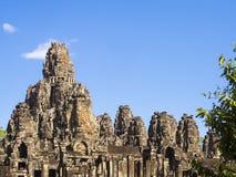 Bayon tempel i Angkor tempel I Arkivfoto