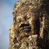 Bayon tempel i Angkor Royaltyfri Foto