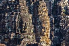 Bayon tempel i Angkor Arkivfoto