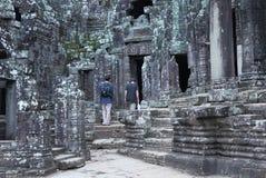 Bayon tempel i Angkor Thom Arkivfoton