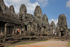 Bayon tempel, i det Angkor komplexet Arkivfoton