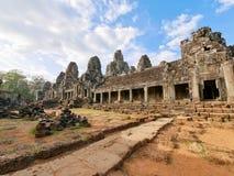 Bayon tempel på Angkor Wat Royaltyfri Foto