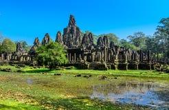 Bayon tempel (Prasat Bayon) på Angkor Thom Royaltyfri Fotografi