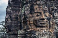 Bayon tempelcombodia Royaltyfri Fotografi