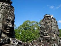 Bayon tempelframsidor Royaltyfri Foto