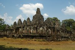 Bayon temple. Overview against blue sky Royalty Free Stock Images