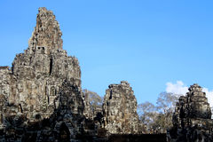 Bayon Temple. In Siem Reap Cambodia royalty free stock image