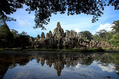 Bayon temple in the afternoon sun, Angkor Wat, near Siem Reap, C Stock Image