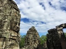 Bayon Temple Angkor Thom combodia royalty free stock photos