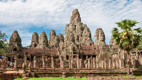 Bayon Temple of Angkor. The Bayon Temple inside the Angkor Wat complex, Cambodia Stock Images