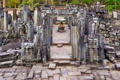 Bayon. Temple, Angkor, Cambodia stock photos