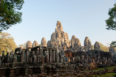 Bayon temple in Angkor, Cambodia Stock Photos