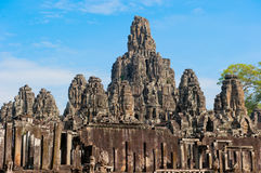 Bayon temple, Angkor, Cambodia Royalty Free Stock Images