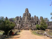 Bayon temple. Angkor in Cambodia Stock Images