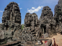 Bayon temple at Angkor Stock Photography
