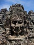 Bayon temple at Angkor, Cambodia. Bayon temple at Angkor in Cambodia stock photography