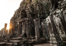 Bayon temple in Angkor Royalty Free Stock Images