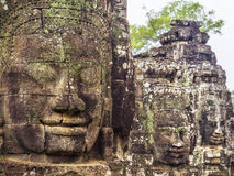 Bayon Temple at Angkor, Siem Reap, Cambodia Stock Photos