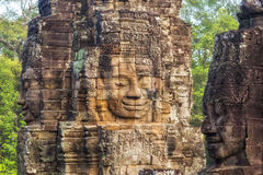 Bayon Temple at Angkor, Siem Reap, Cambodia Stock Photography