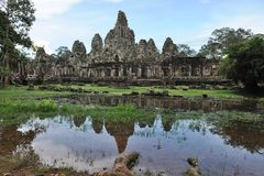Bayon temple in Angkor Thom, Royalty Free Stock Image
