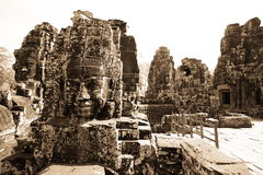 Bayon Temple at Angkor Thom Royalty Free Stock Photo