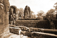 Bayon Temple at Angkor Thom Royalty Free Stock Photo