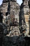 Bayon temple in Angkor Thom area, Cambodia Royalty Free Stock Images