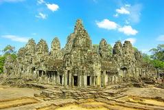 Bayon temple in Angkor Thom, Cambodia Royalty Free Stock Images