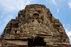 Bayon Temple at Angkor Thom, Cambodia Royalty Free Stock Photography