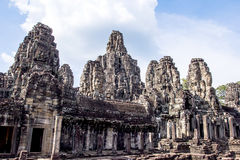 Bayon Temple in Angkor Thom Stock Images