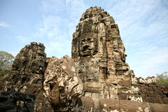 Bayon Temple at Angkor Thom, Cambodia Royalty Free Stock Photos